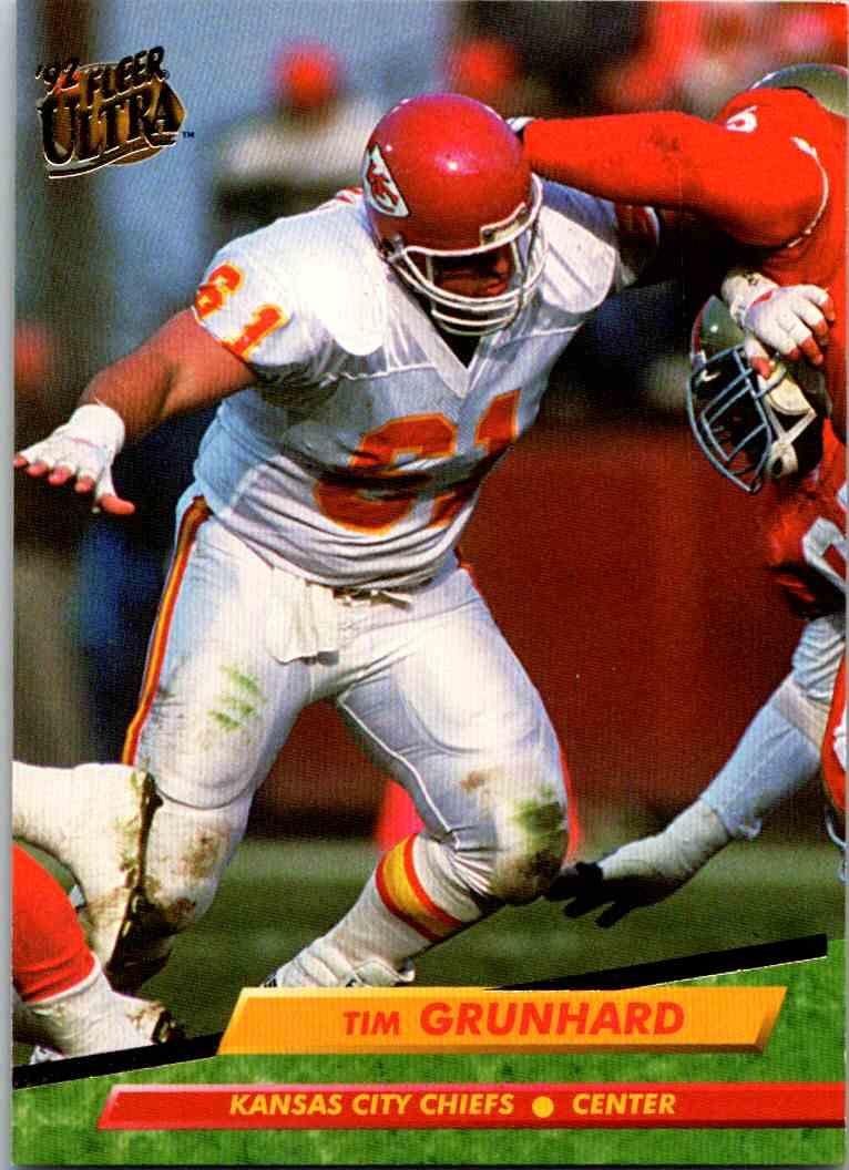 1992 Fleer Ultra Tim Grunhard #169 card front image