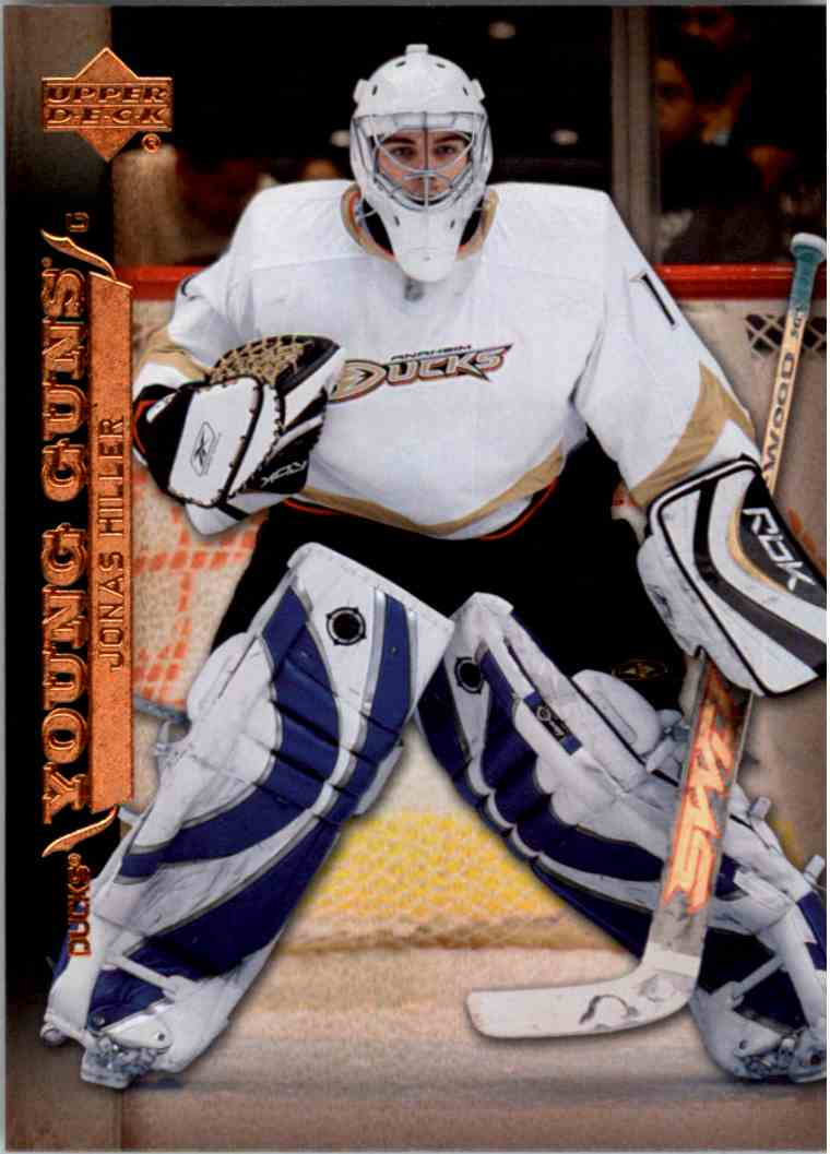 2007-08 Upper Deck Young Guns Yg Jonas Hiller #204 card front image