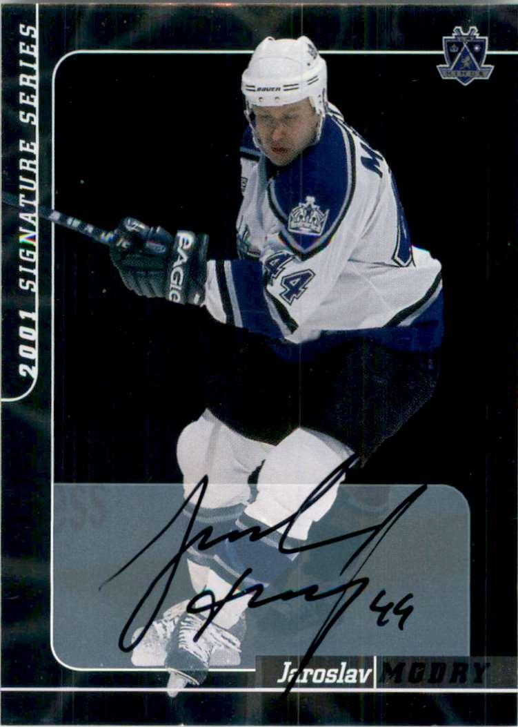 2000-01 Bap Signature Series Autographs Jaroslav Modry #191 card front image