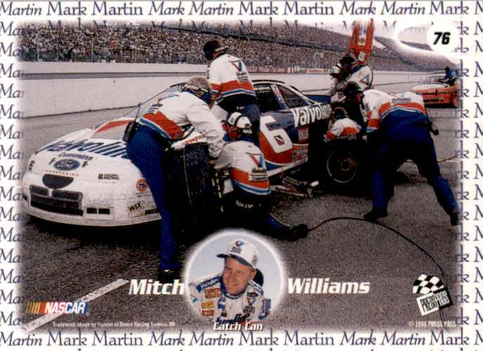 1998 Press Pass Mitch Williams #76 card back image