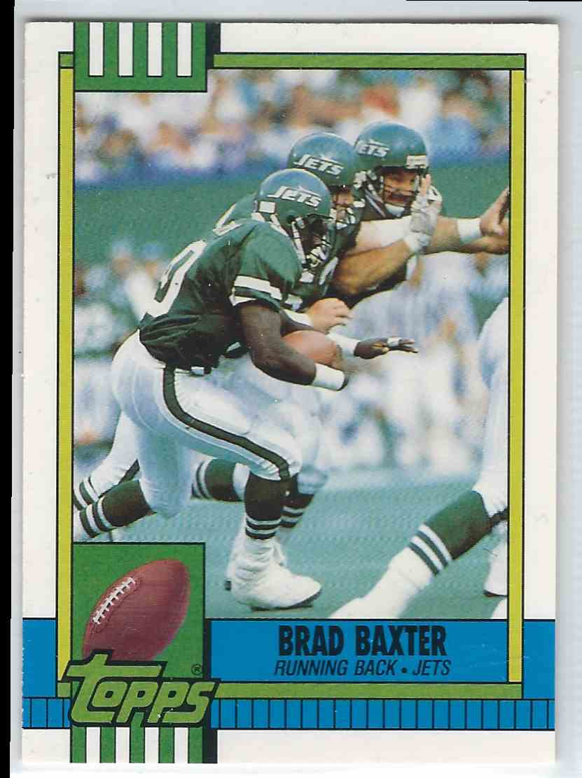 1990 Topps Traded Brad Baxter #64T card front image