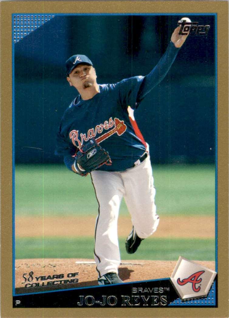 2009 Topps Gold Border Jo-Jo Reyes #57 card front image