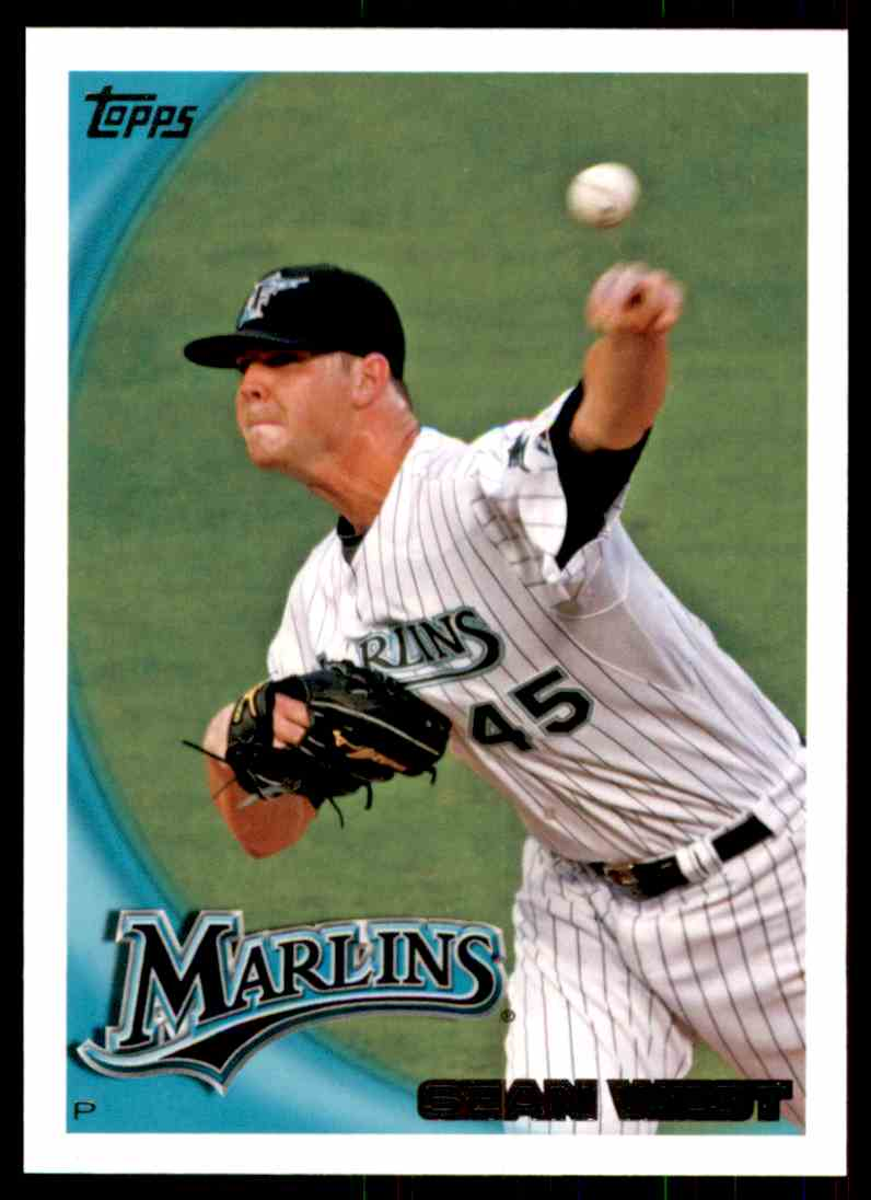 2010 Topps Sean West #414 card front image