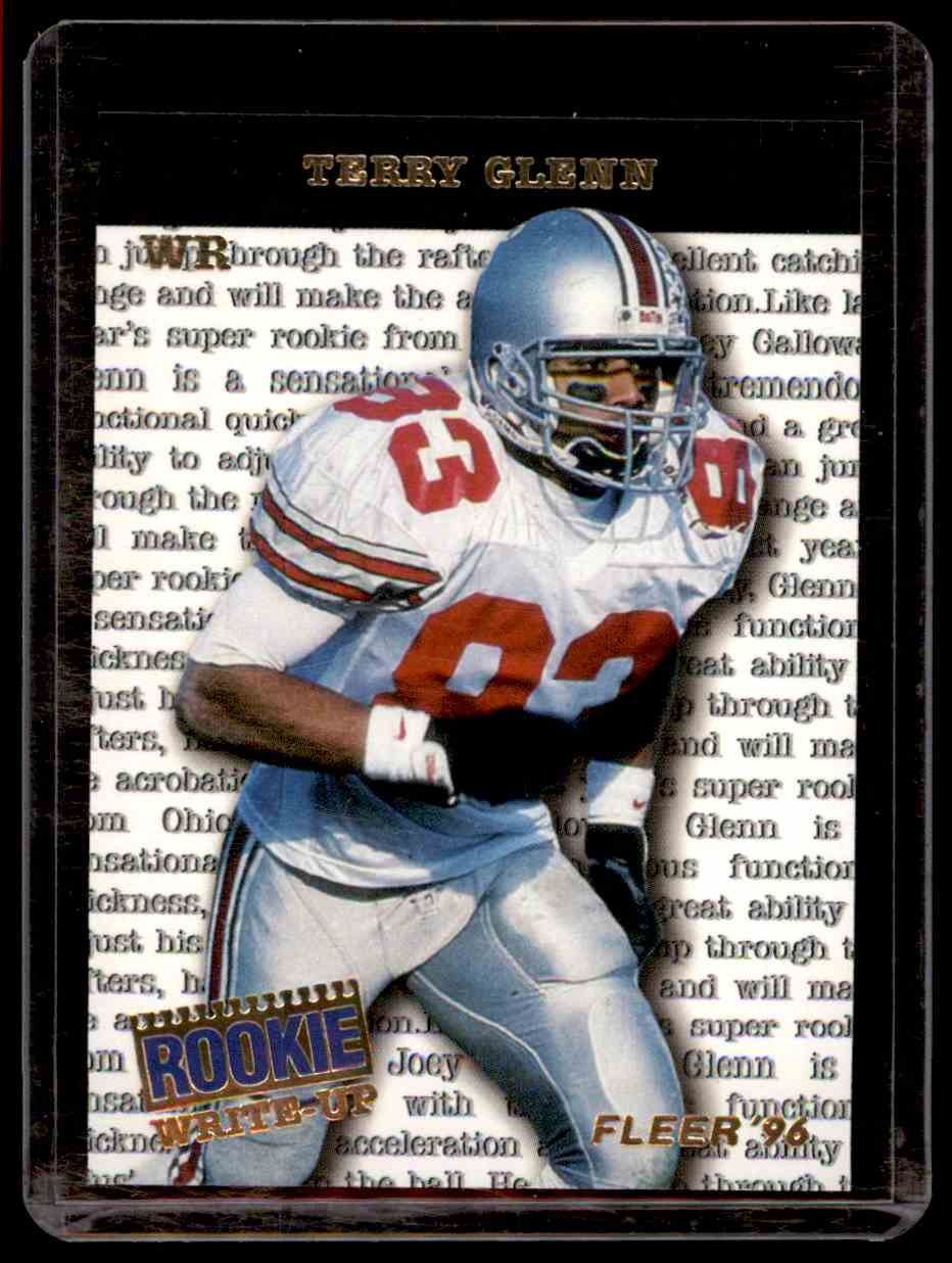 1996 Fleer Rookie Write-Ups Terry Glenn #4 card front image