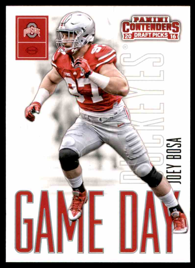 2016 Panini Contenders Draft Picks Game Day Tickets Joey Bosa #1 card front image