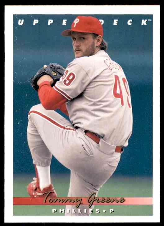 1993 Upper Deck Tommy Greene #549 card front image