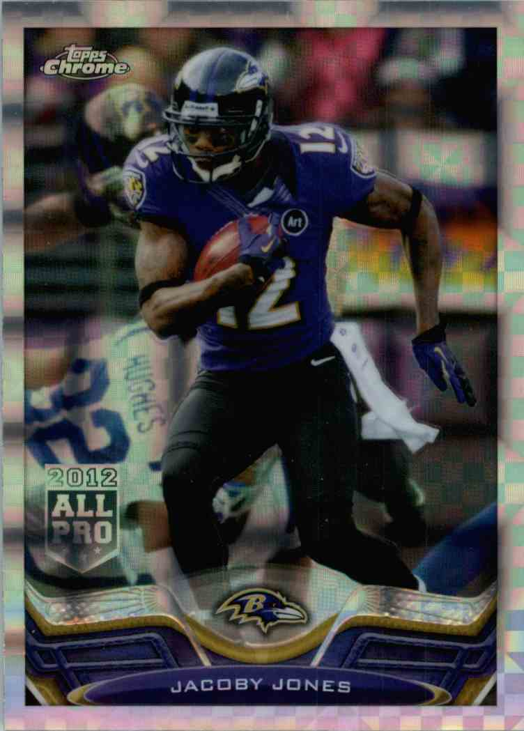 2013 Topps Chrome Jacoby Jones #91 card front image