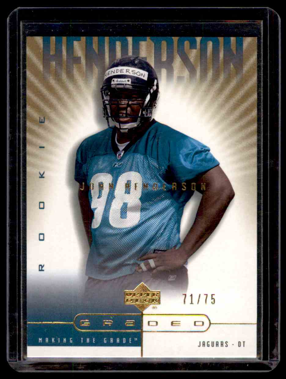 2002 UD Graded Gold John Henderson #147 card front image