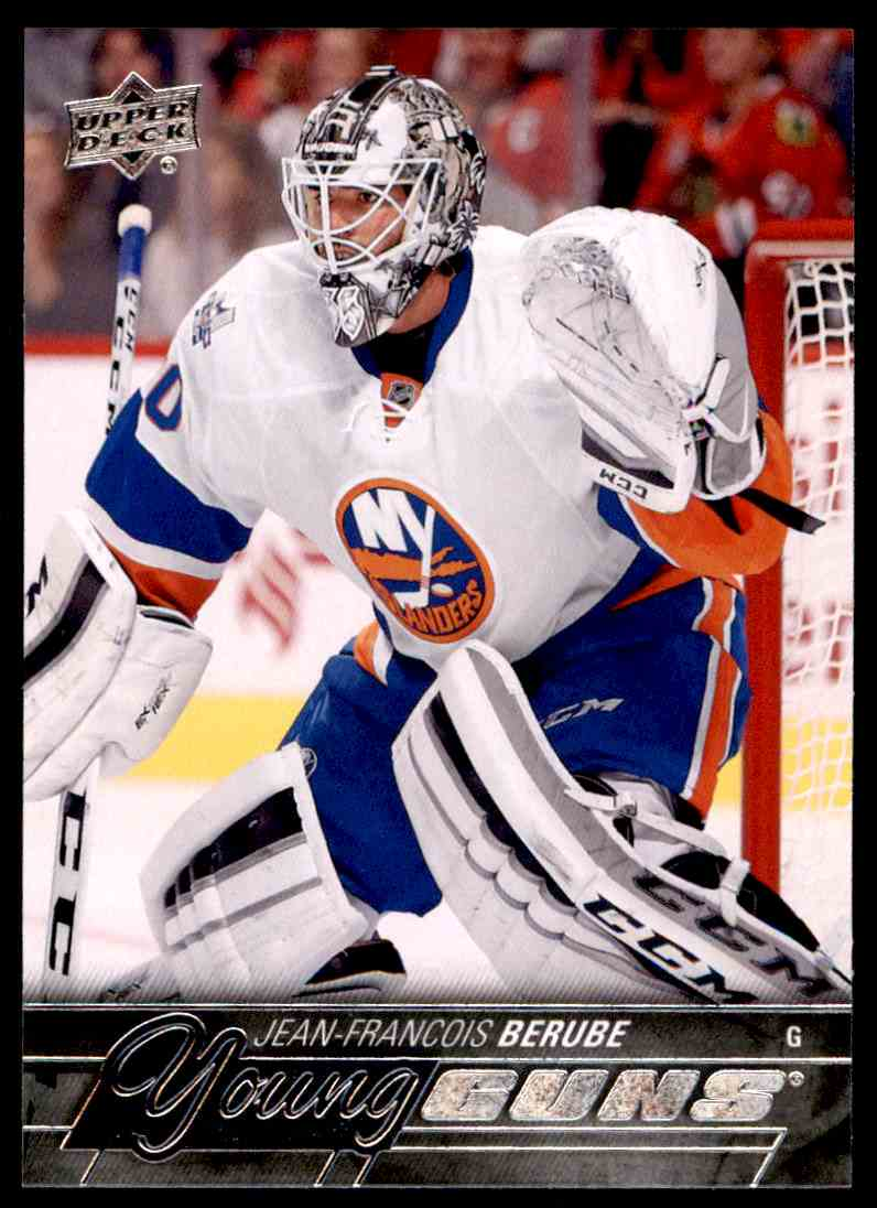 2015-16 Upper Deck Series One Jean-Francois Berube #242 card front image