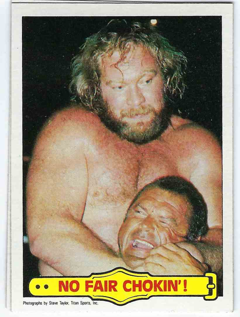 "1985 Topps WWF Pro Wrestling Stars George ""The Animal"" Steele #37 card front image"
