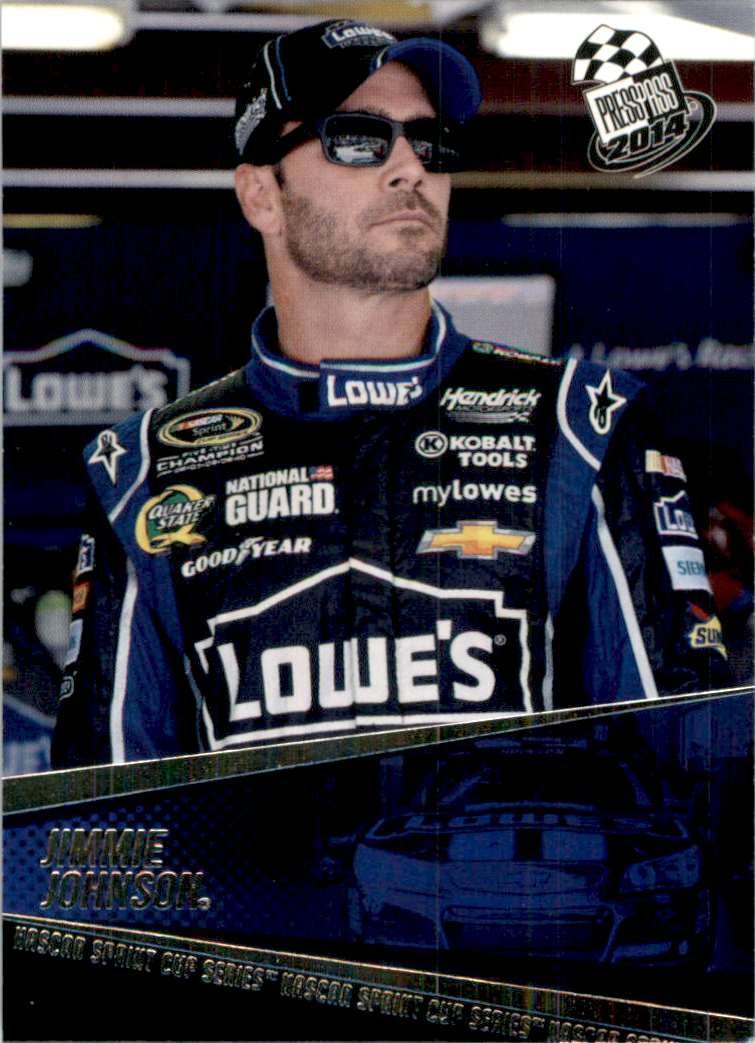 2014 Press Pass Jimmie Johnson #17 card front image