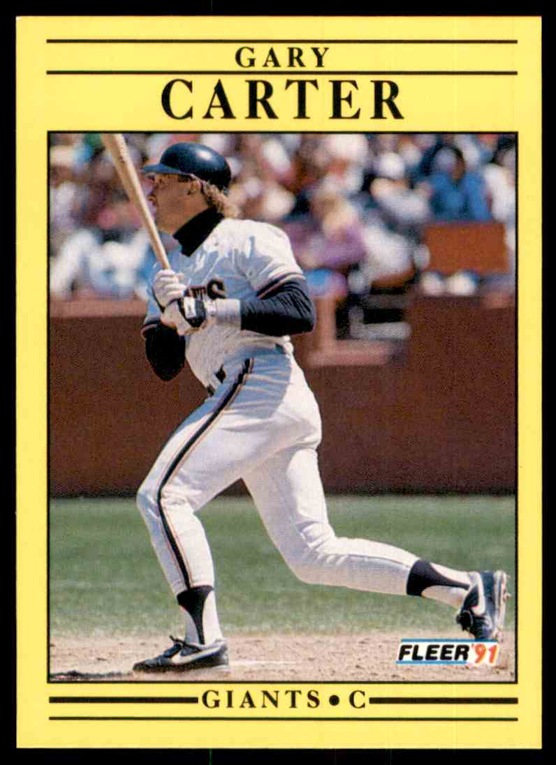 1991 Fleer Gary Carter #258 card front image