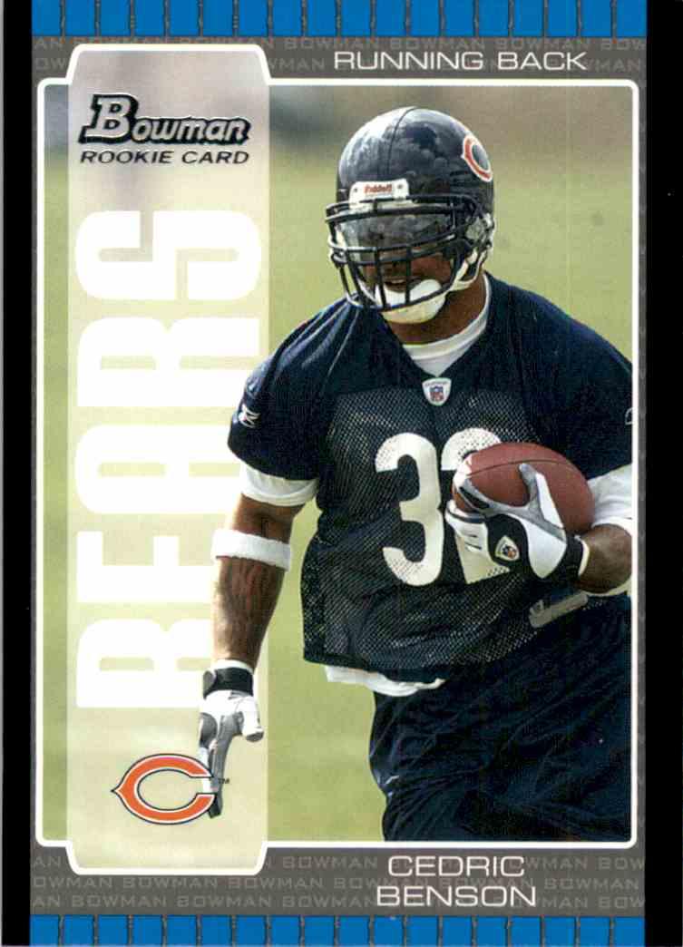 2005 Bowman Cedric Benson RC #147 card front image