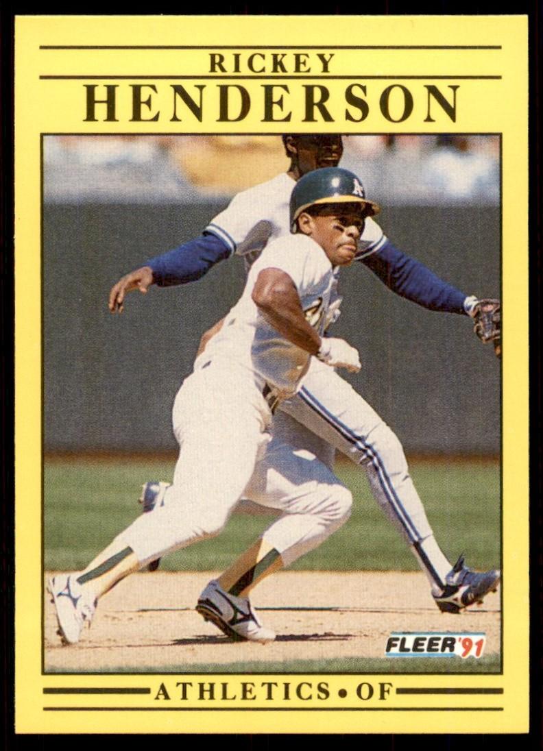 1991 Fleer Rickey Henderson #10 card front image