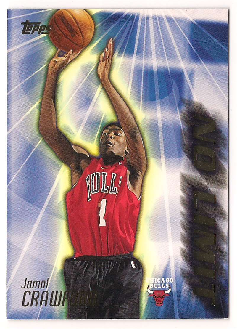 2000-01 Topps No Limit Jamal Crawford #NL18 card front image