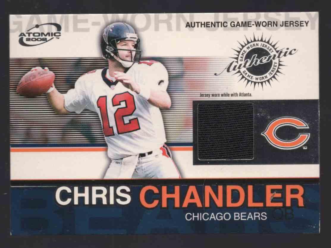 2002 Atomic Game Worn Jerseys Chris Chandler #14 card front image