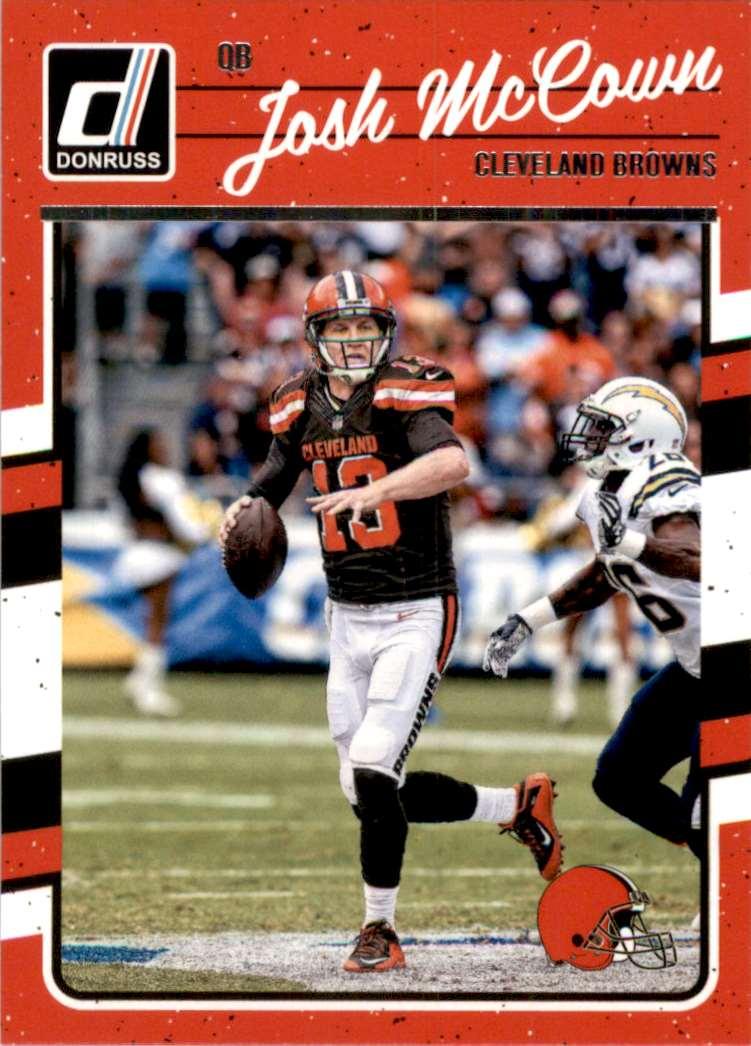 2016 Donruss Josh McCown #67 card front image