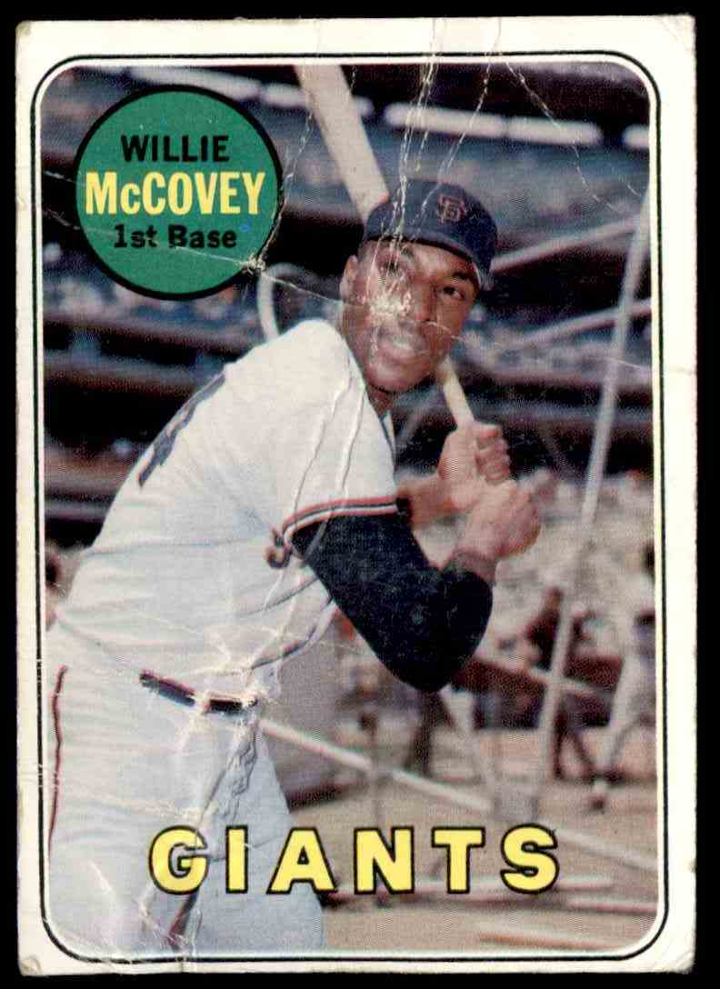 1969 Topps Willie McCovey (Card Horribly Creased) #440 card front image