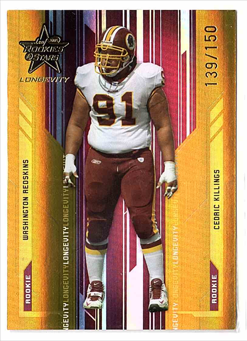2005 Leaf Rookies And Stars Longevity Gold Cedric Killings #144 card front image