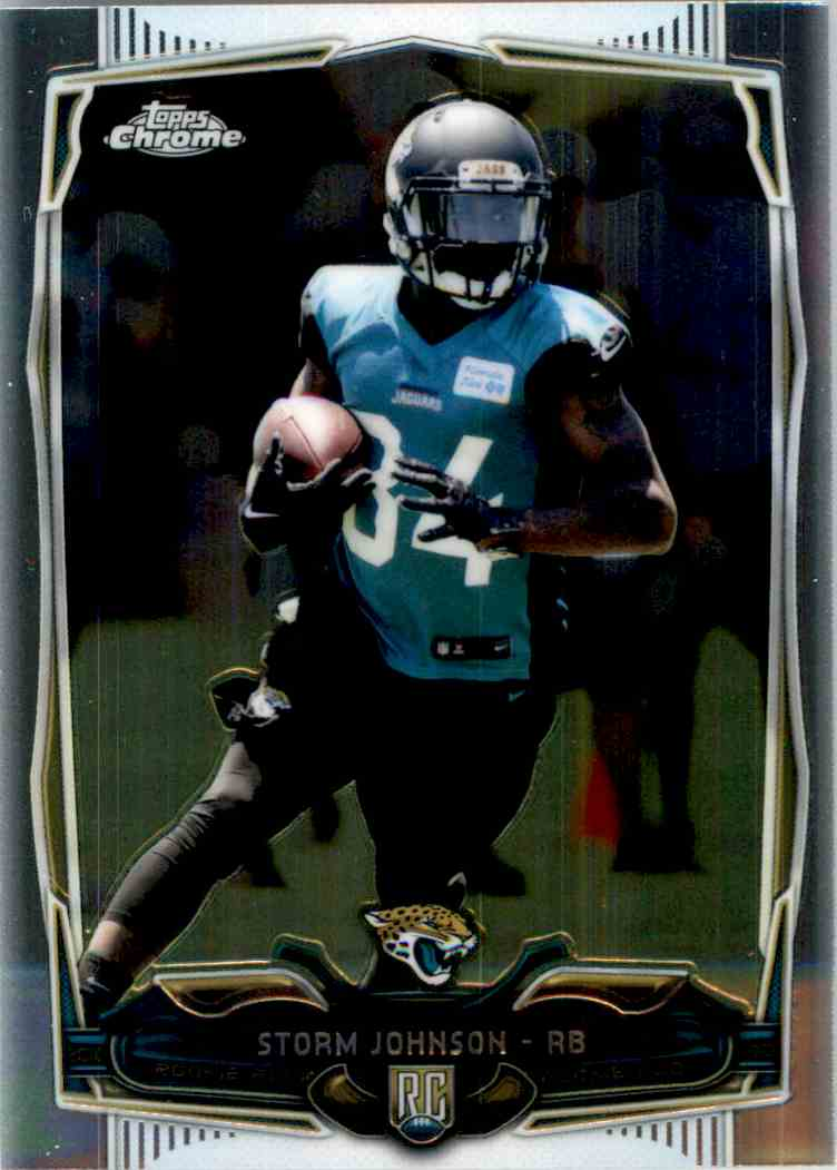 2014 Topps Chrome Storm Johnson RC #134 card front image