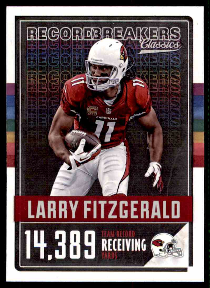 2017 Panini Classics Record Breakers Larry Fitzgerald(D)139=14 #28 card front image