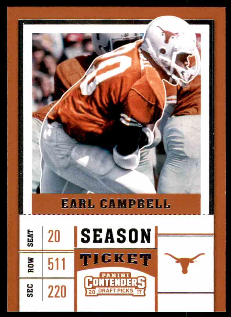 2017 Panini Contenders Draft Picks Earl Campbell #32 card front image