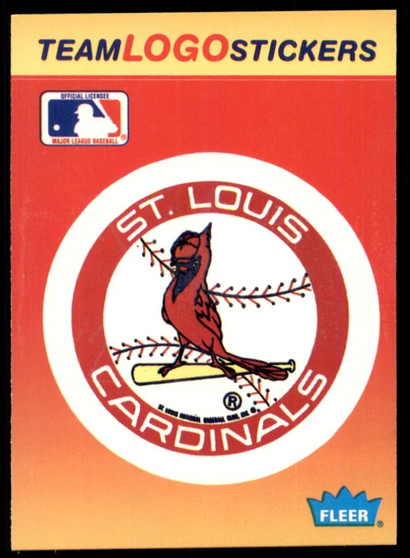 1991 Fleer Team Logo Stickers St. Louis Cardinals #73 card front image