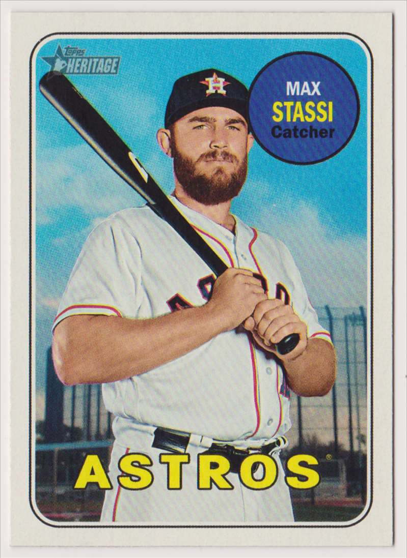2018 Topps Heritage Max Stassi #573 card front image