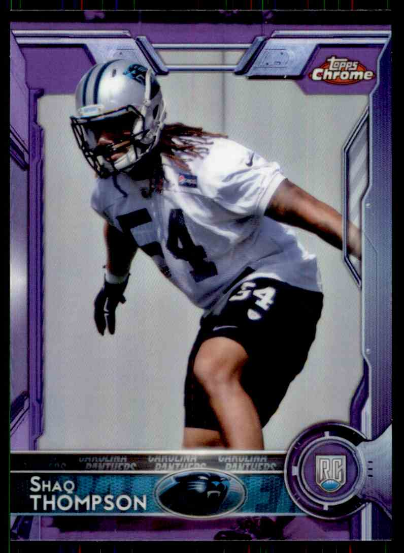 2015 Topps Chrome Purple Refractor Shaq Thompson #116 card front image