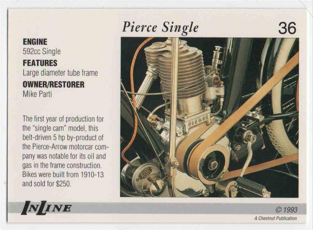 1993 InLine 1910 Pierce #36 card back image