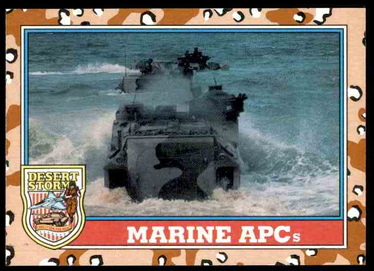 1991 Desert Storm Topps Marine Apc #124 card front image