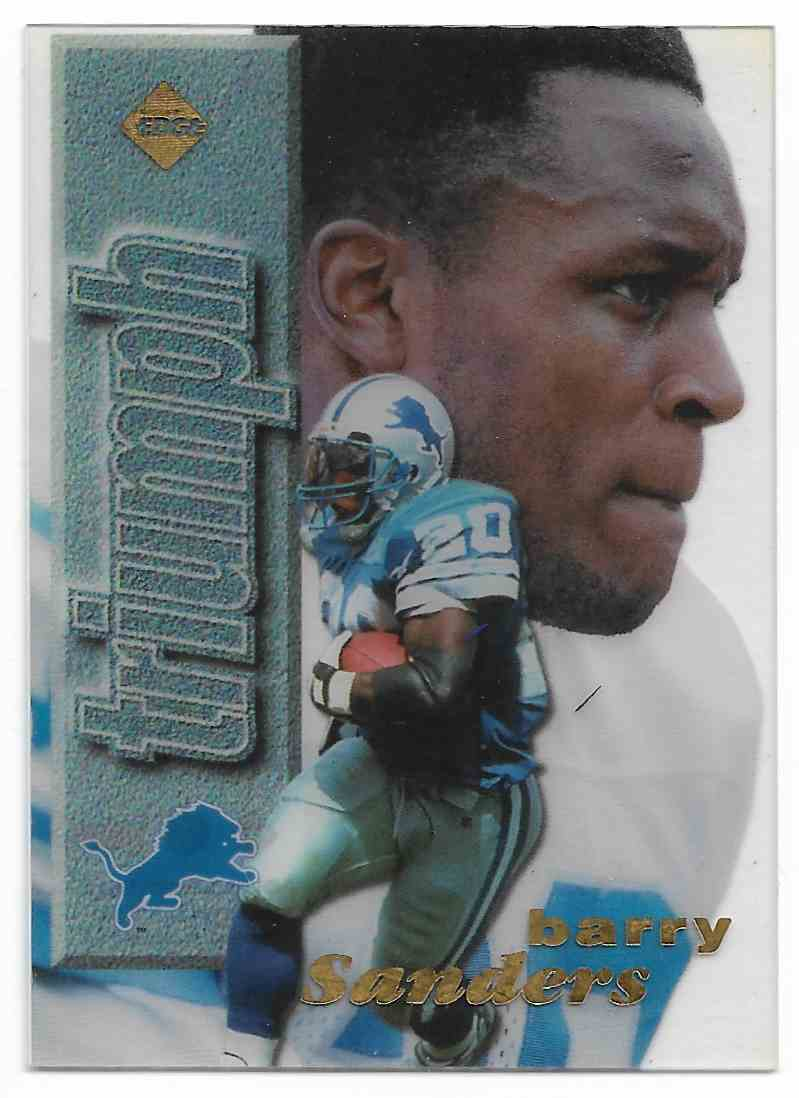 1998 Edge 1st Place Barry Sanders #BASA card front image