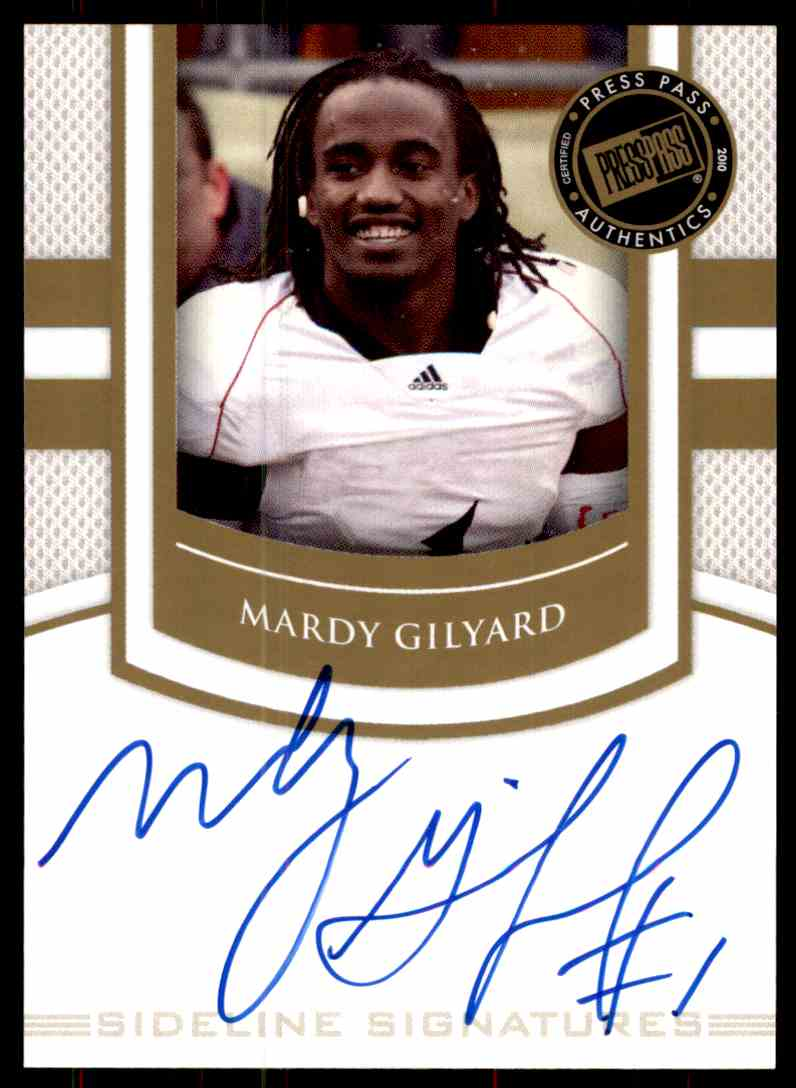 2010 Press Pass Mardy Gilyard card front image