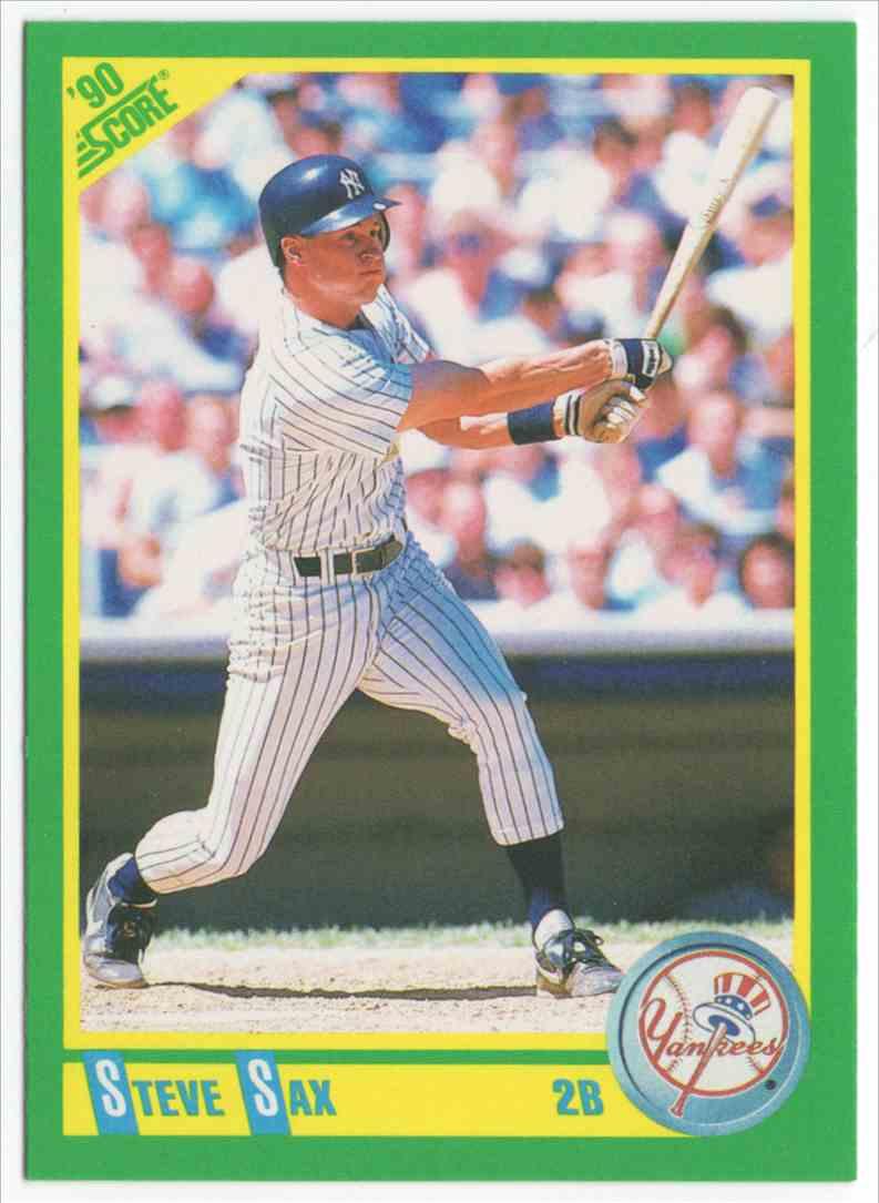 1990 Score Steve Sax #125 card front image