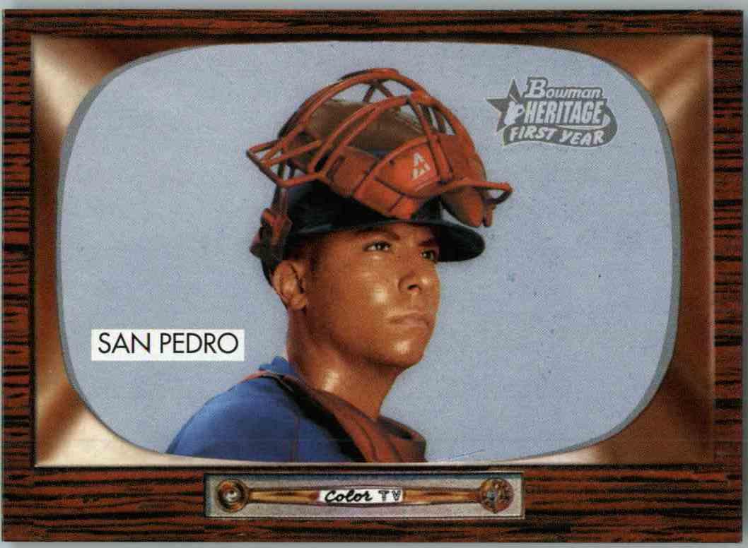 2004 Bowman Heritage Erick San Pedro #256 card front image