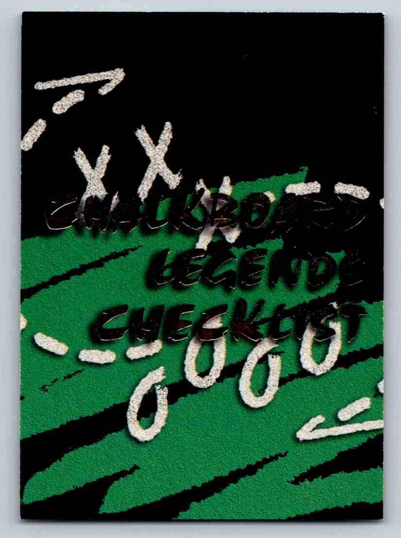 1994 Ted Williams Chalkboard Legends Checklist #72 card front image