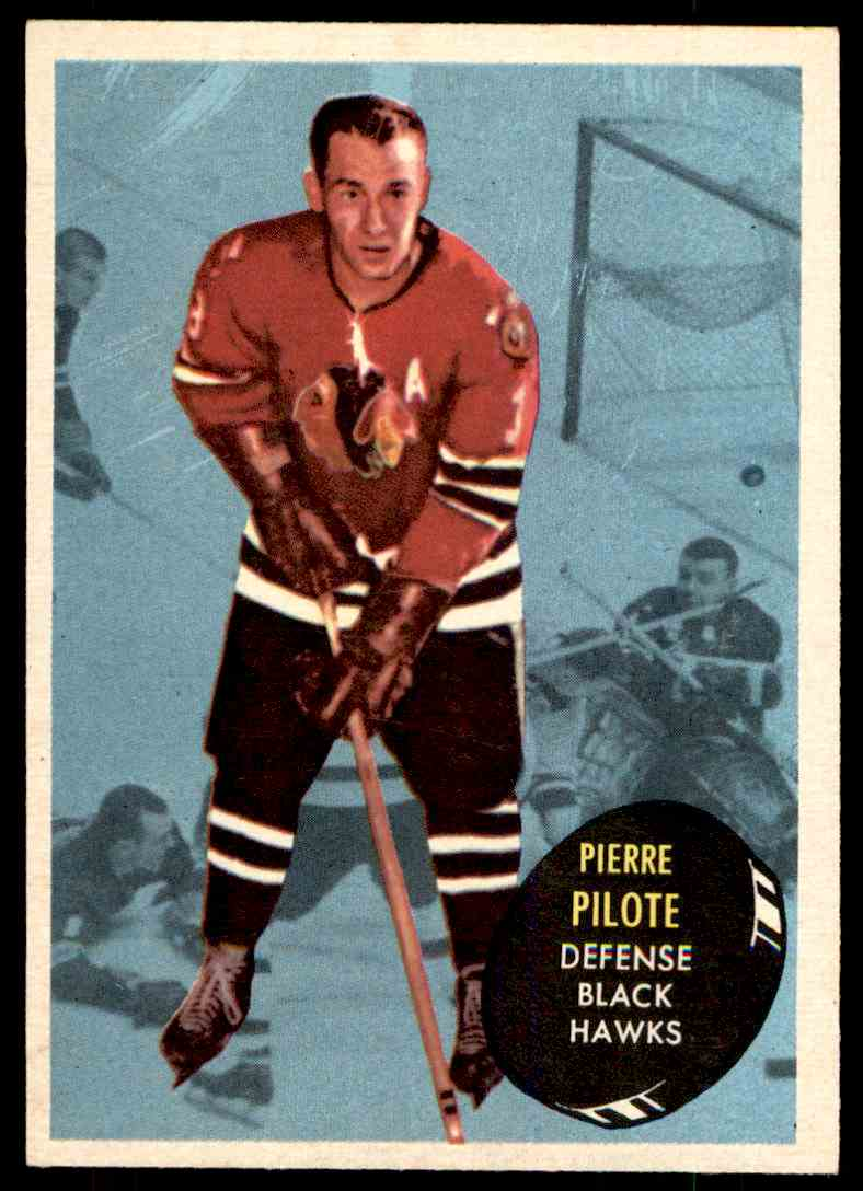 1961-62 Topps Pierre Pilote #24 card front image
