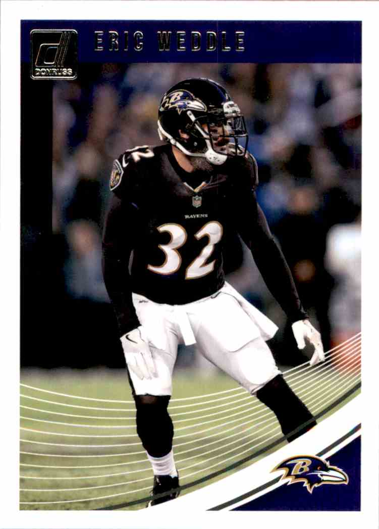 2018 Donruss Eric Weddle #25 card front image