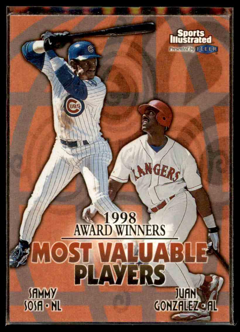 1999 Fleer Sports Illustrated Sammy Sosa Juan Gonzalez 20