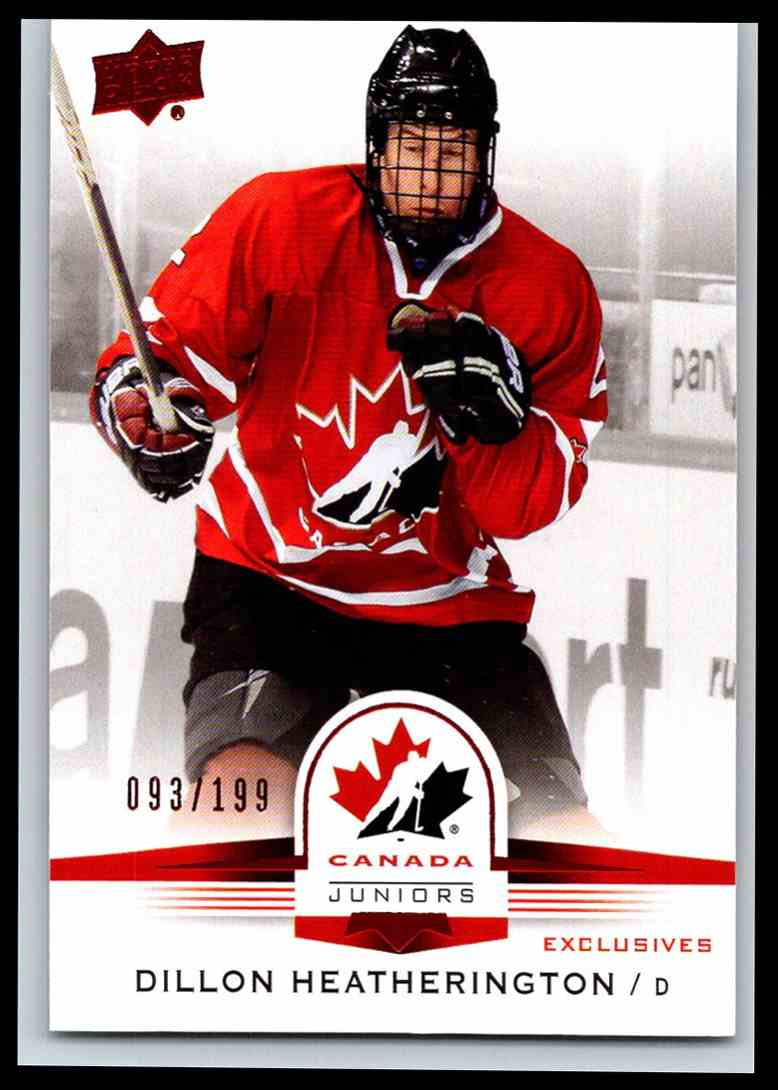2014-15 Upper Deck Team Canada Juniors Red Dillon Heatherington #14 card front image