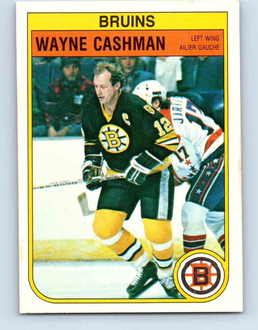 1982-83 O-Pee-Chee Wayne Cashman #8 card front image