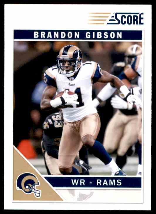 2011 Score Brandon Gibson #264 card front image