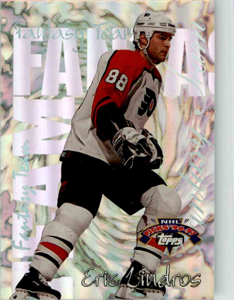 1996-97 Topps Picks Fantasy Team Eric Lindros #FT22 card front image
