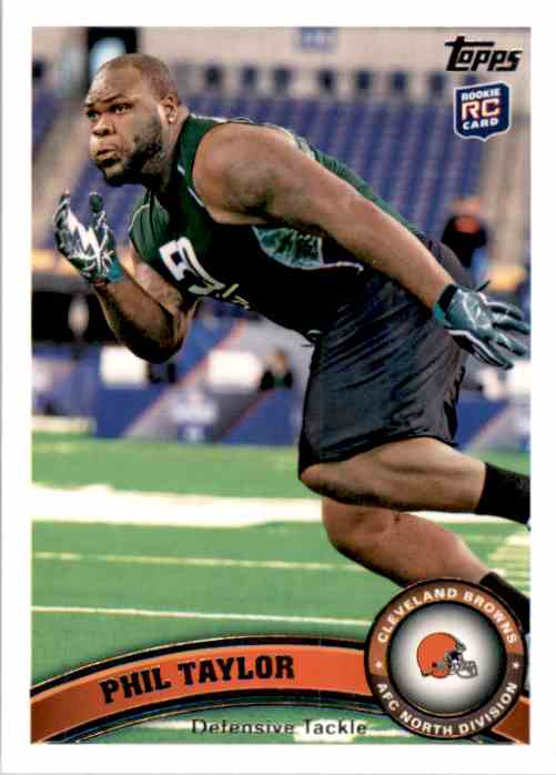 2011 Topps Phil Taylor RC #27 card front image
