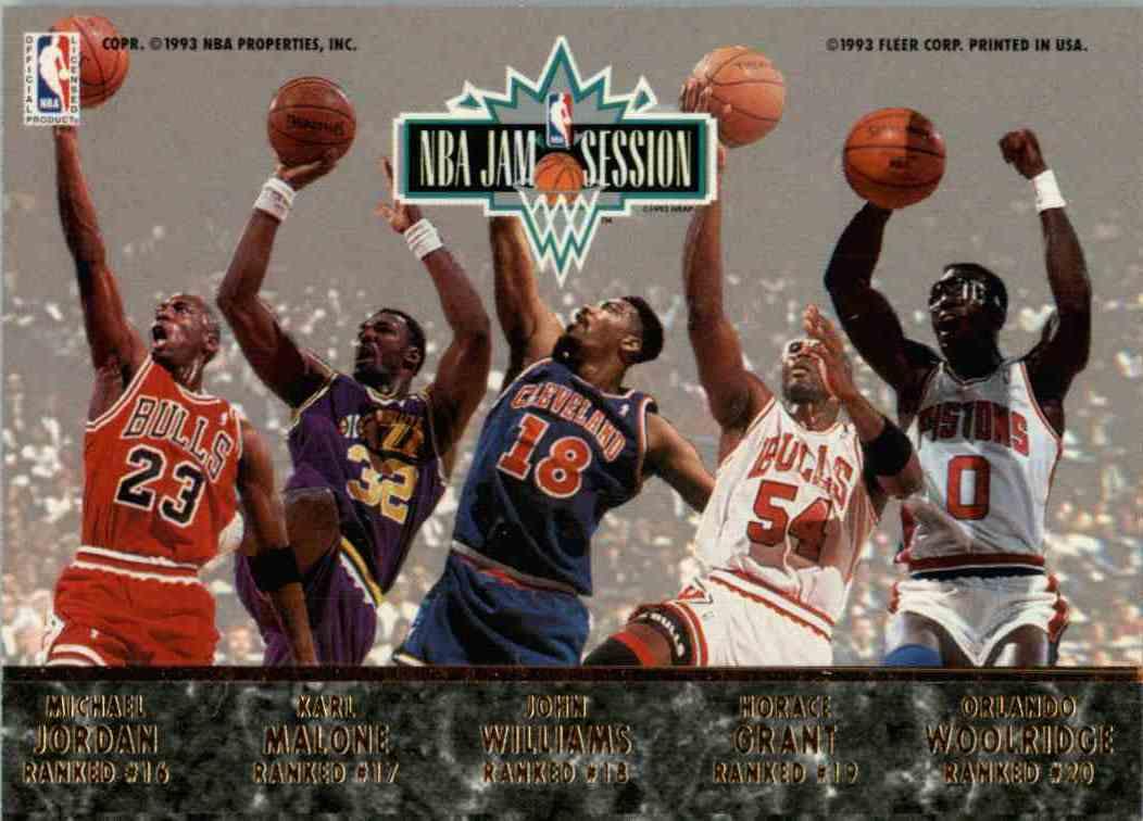 1993 94 Fleer Ultra Michael Jordan Karl Malone John Williams
