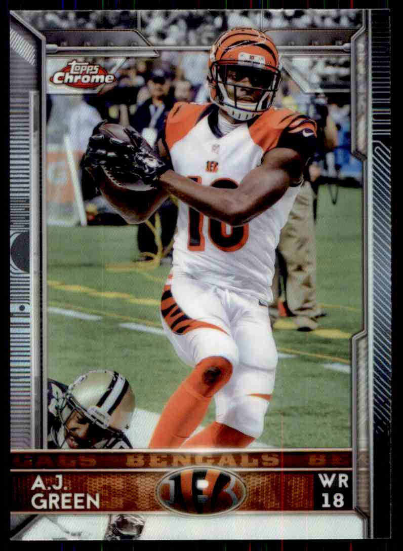 2015 Topps Chrome Refractor A.J. Green #28 card front image