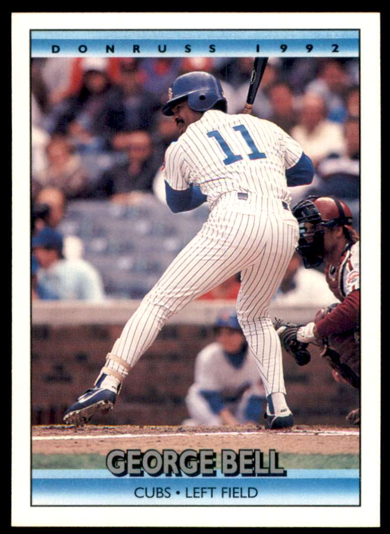 1992 Donruss George Bell #127 card front image
