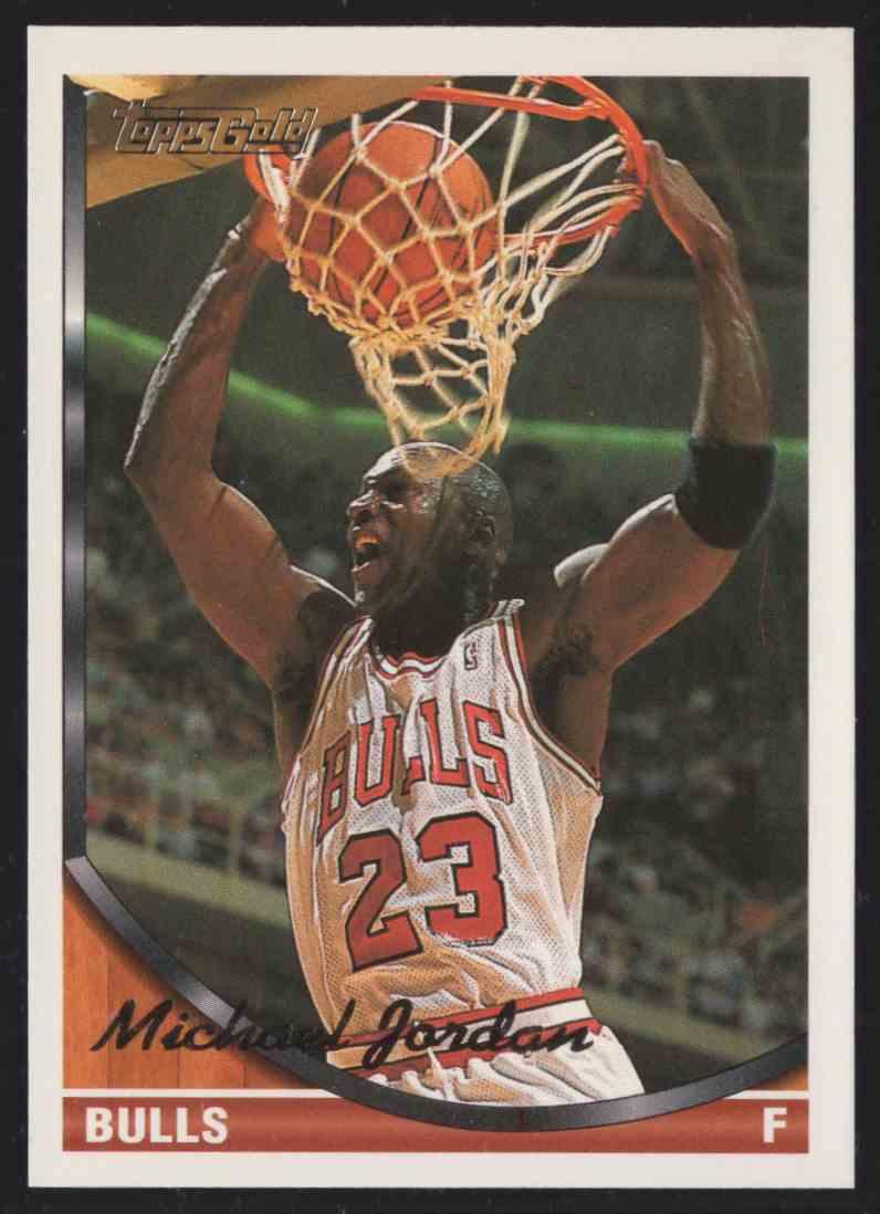 1993-94 Topps Gold Michael Jordan #23 card front image