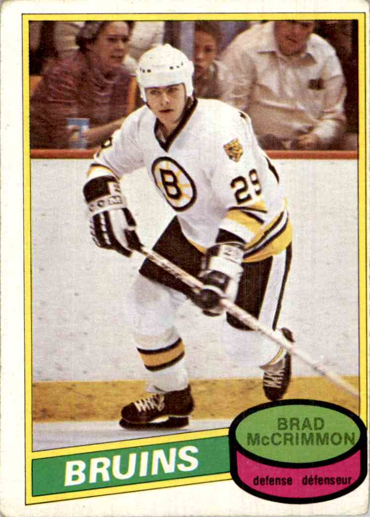 1980-81 O-Pee-Chee Brad McCrimmon #354 card front image
