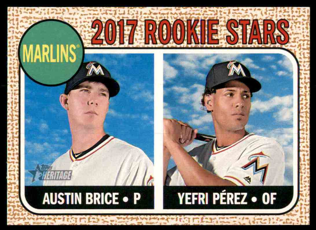 2017 Topps Heritage Austin Brice, Yefri Perez #42 card front image